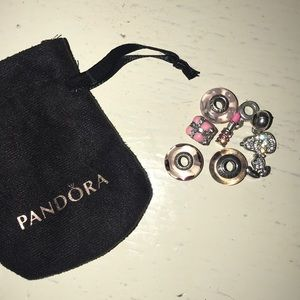 Pandora charm bundle (6 charms )